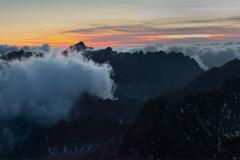 Tatry panorama-wieczorna